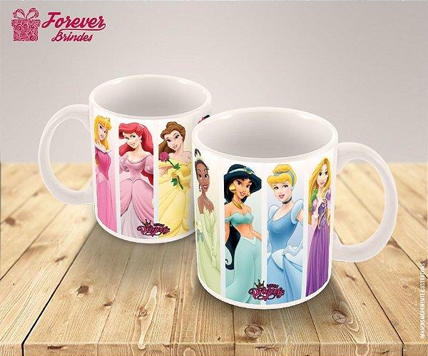 Caneca De Porcelana Infantil Princesas da Disney
