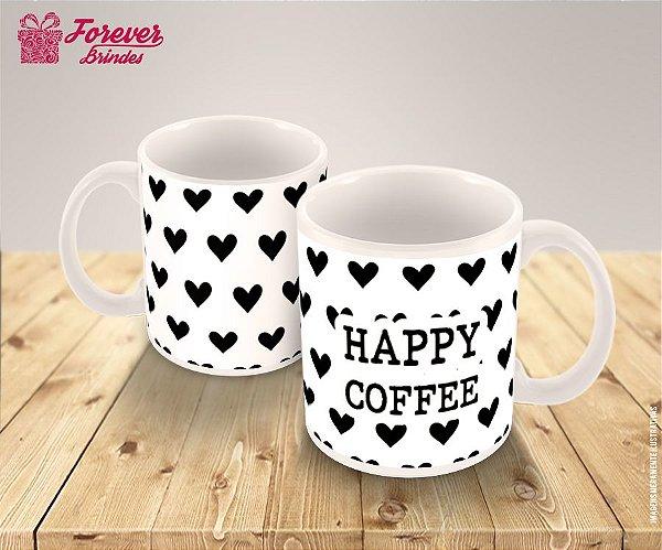 Caneca de Porcelana  Happy Coffee