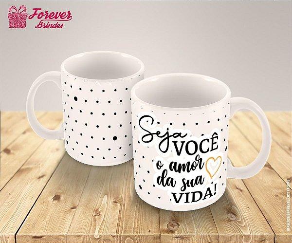 Caneca de Porcelana Com Frases