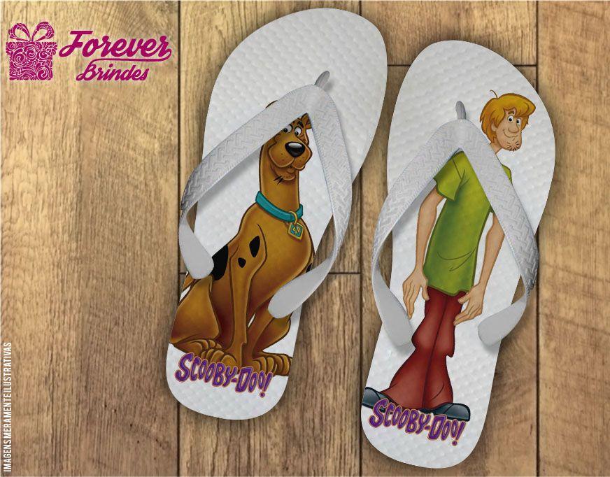 Chinelo Personalizado Aniversário Scooby Doo e Salsicha