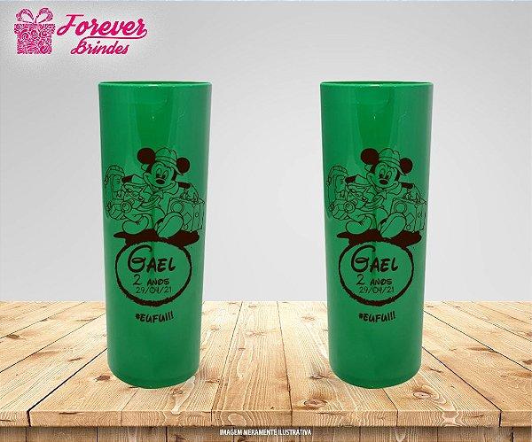 Copo Long Drink Personalizado Mickey Safari