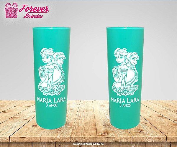 Copo Long Drink Frozen - Elsa e Anna