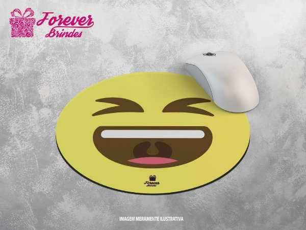 Mouse Pad Redondo Emoji Rindo