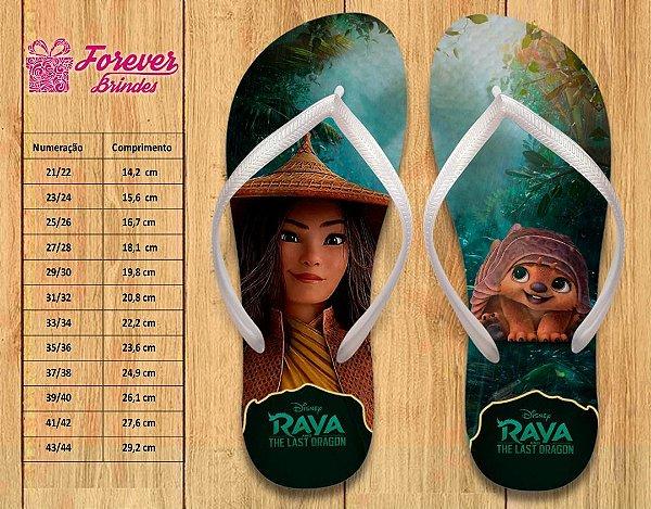Chinelo Personalizado Princesa Raya