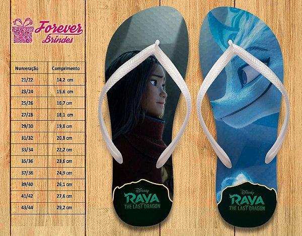 Chinelo Personalizado princesa Raya e o último dragão