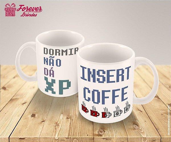 Caneca Porcelana Insert Coffe