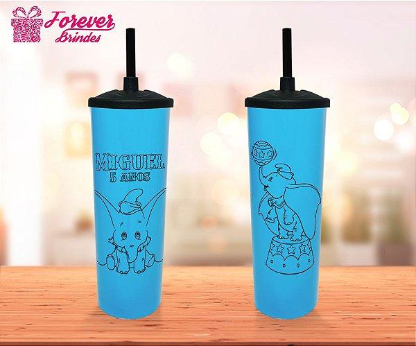 Copo Long Drink Tampa e Canudo Dumbo