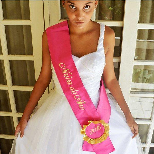 Faixa Noiva(o) do Ano Rosa Pink
