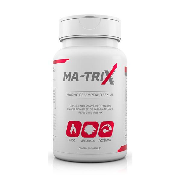 MA-TRIX - Suplemento Vitamínico e Mineral Masculino a base de Maca Peruana e Tribulus - 60 cápsulas