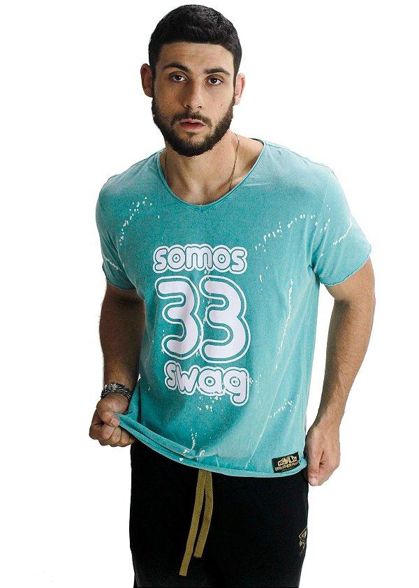 Camiseta Swag Azul Claro