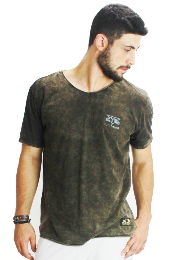 Camiseta Inverse Castanho