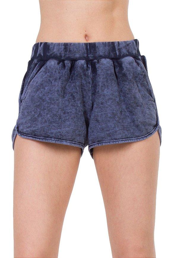 Short Moletom Boxer Jeans