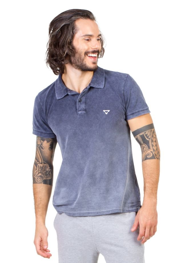 Camisa Polo Brohood Azul Denim