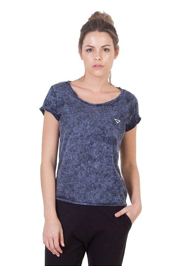 Camiseta Slim Brohood Azul Jeans