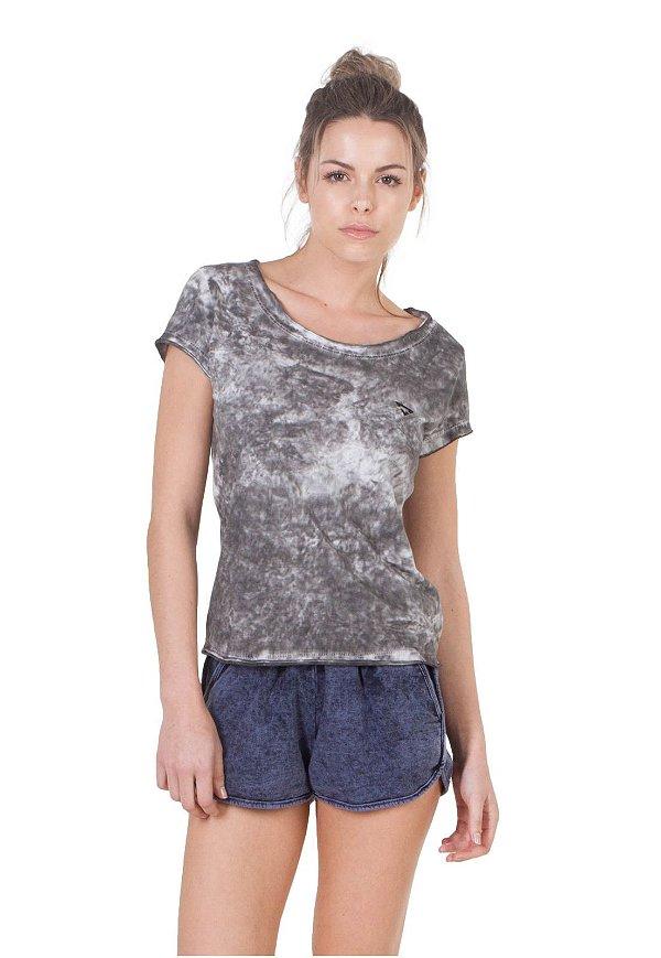 Camiseta Slim Brohood Cinza Marmorizado