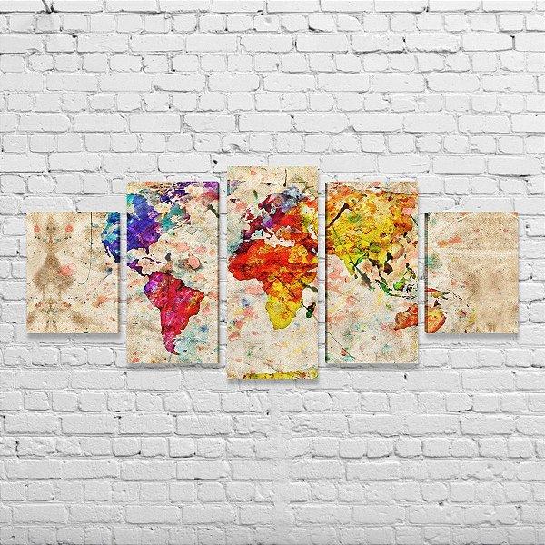 Mapa mundi - 5 peças