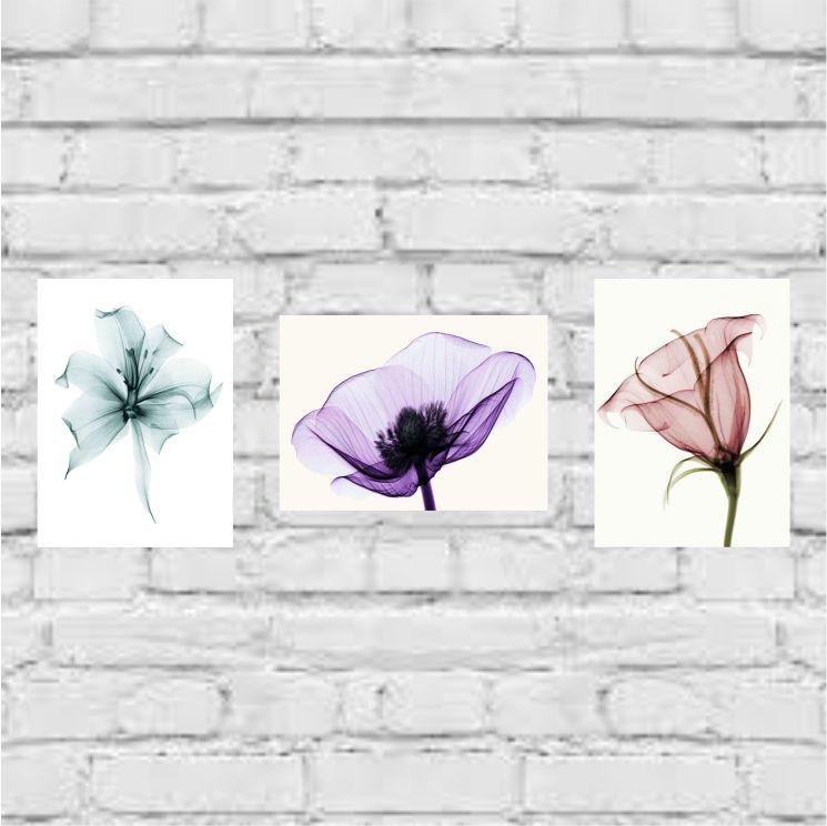 Flores- 3 peças