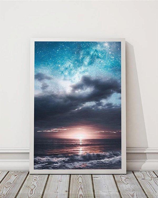 Pôr do sol e o mar