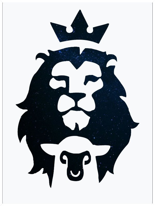 Cordeiro e leão - Emoldurado