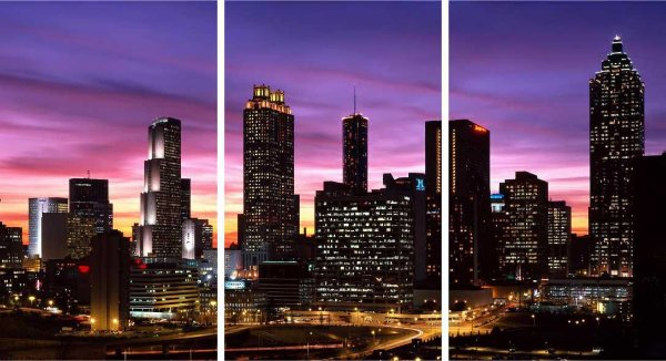 Cidade noturna - 3 telas