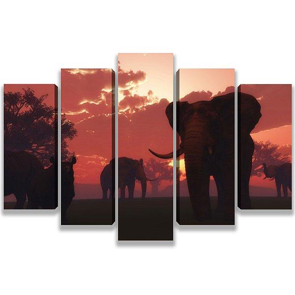 Elephant - 5 Telas Canvas