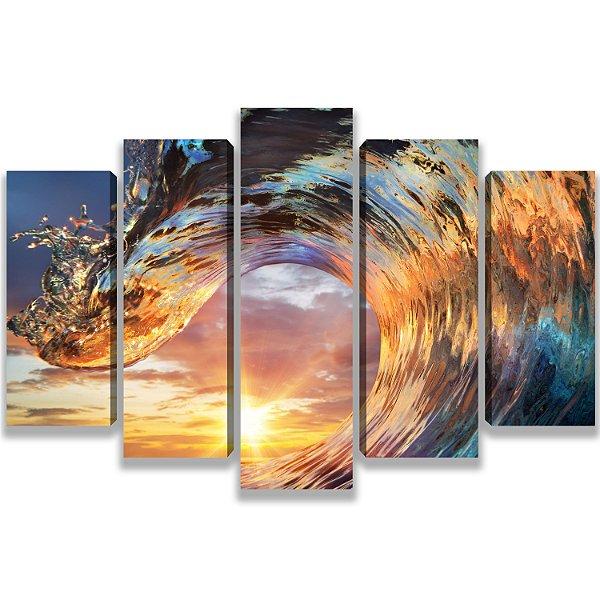 Wave - 5 Telas Canvas