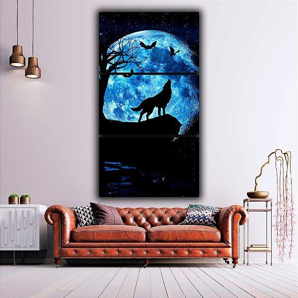 O Lobo e a Lua - 3 Canvas