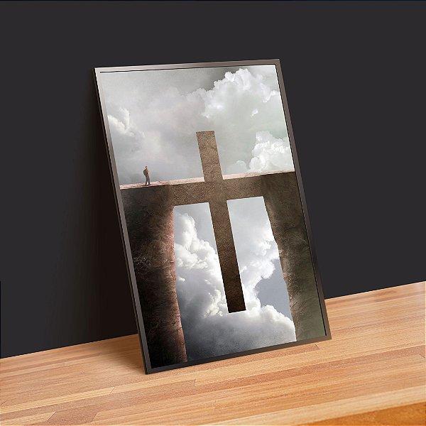 A cruz é o caminho - Emoldurado
