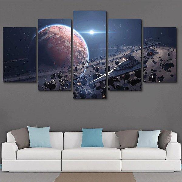 Espaço -  5 Telas Canvas