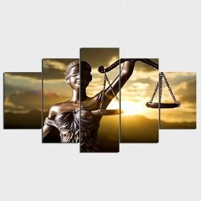 Deusa Direito  -  5 Telas Canvas