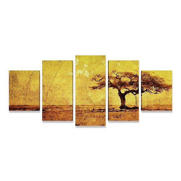 Arvore - Quadro Mosaico 5 telas em Canvas