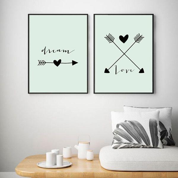 Dream... Love... - KIT 2 QUADROS