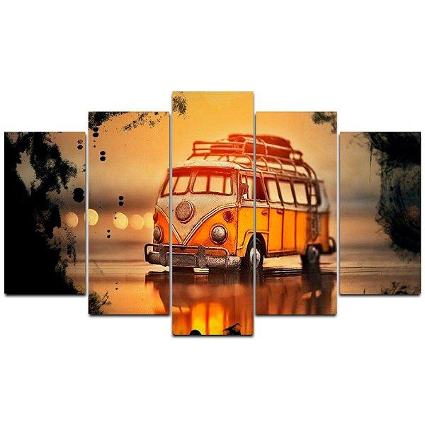 Kombi - Quadro Mosaico 5 Telas em Canvas