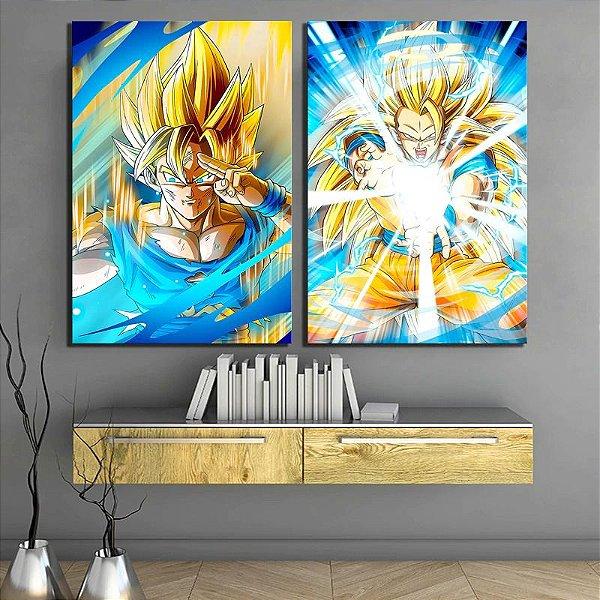 Goku - 2 Quadros