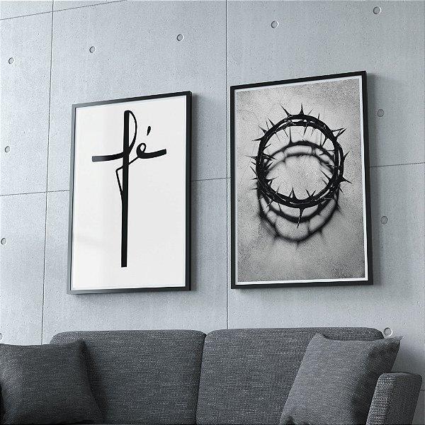 A ressurreição e vida - KIT 2 QUADROS