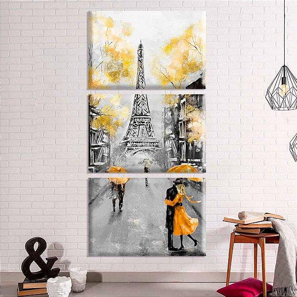 Torre Eiffel - 3 telas canvas