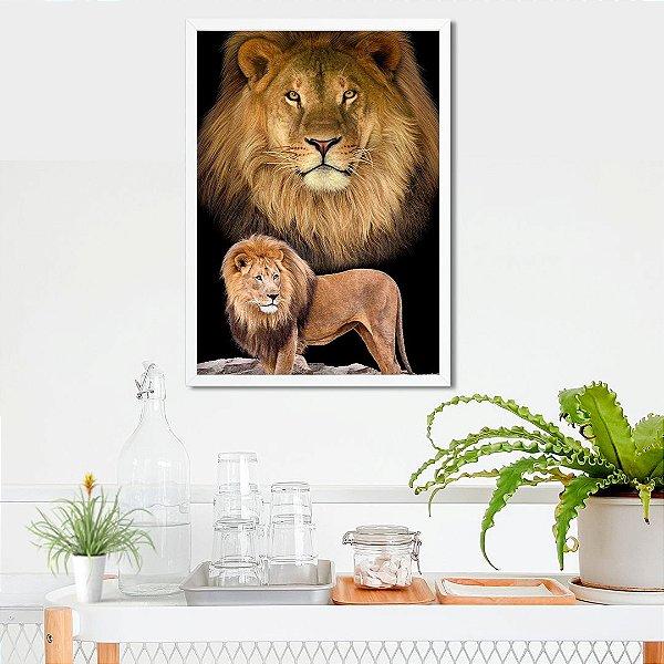 Leão e leão - Emoldurado