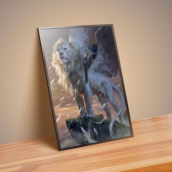 Leão com assas - Emoldurado