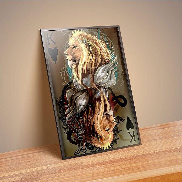 Leão de copas - Emoldurado