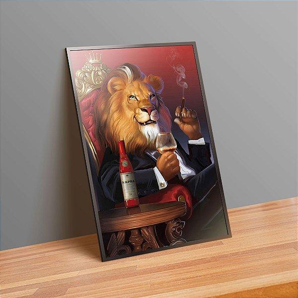 Leão rei - Emoldurado