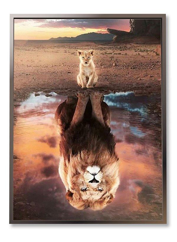 Quadro Leão reflexo