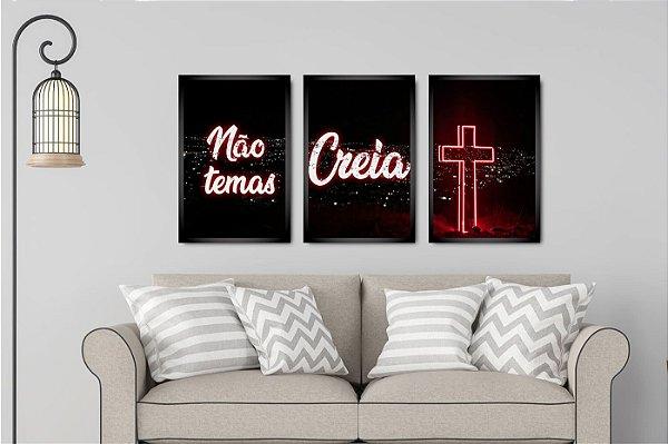 NÃO TEMAS CREIA  -  KIT 3 TRIOS