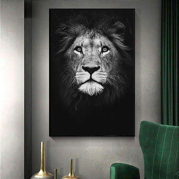 Leão rosto - Tela canvas - Cod09001
