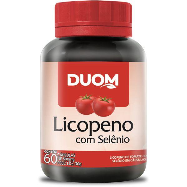 LICOPENO COM SELENIO 60 CAPSULAS 500MG DUOM