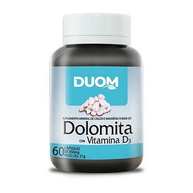 DOLOMITA COM VITAMINA D3 60 CAPSULAS 500MG DUOM
