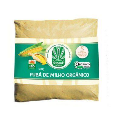 FARINHA DE MILHO FUBA ORGANICO ALVORADA 500G