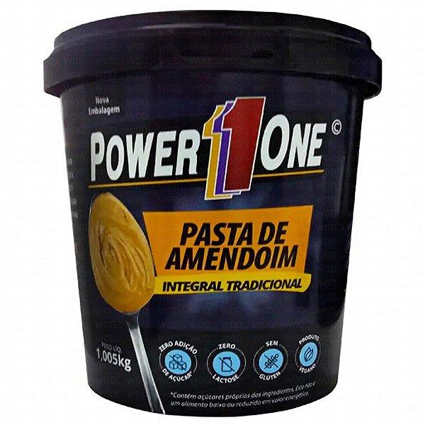 PASTA DE AMENDOIM INTEGRAL LISA 1KG POWER ONE