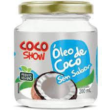 OLEO DE COCO SEM SABOR COCO SHOW COPRA 200ML