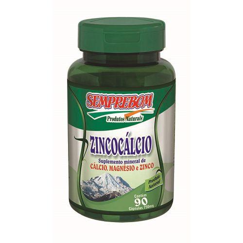 Zincocal - Zinco e Cálcio - 90 cápsulas de 950mg - Semprebom