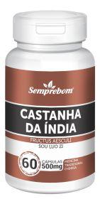 Castanha da Índia  60 cápsulas - 500mg Semprebom